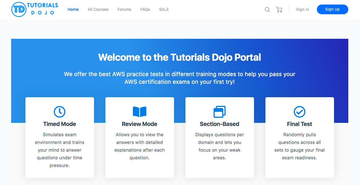 Tutorials Dojo Portal